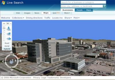 Microsoft Virtual Earth 3D 1.1 Beta screenshot