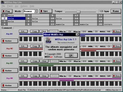 MIDIoz Arp Lite 1.1 screenshot