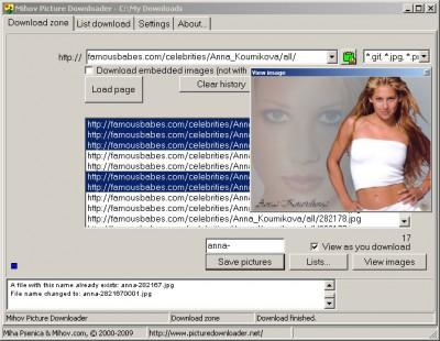 Mihov Picture Downloader 1.5 screenshot