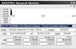 MISPBO Network Monitor 3.0 screenshot