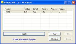 Month Limit 1.23 screenshot