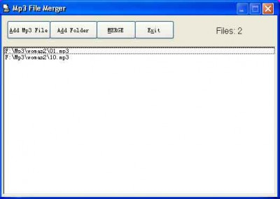 Mp3 File Merger 1.6 screenshot