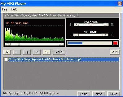 My Mp3 Player 1.2 screenshot