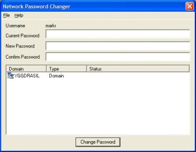 Network Password Changer 1.0 screenshot