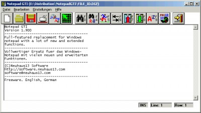 Notepad GTI 1.904 screenshot