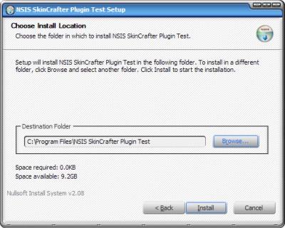 NSIS Skincrafter plugin 2.6.1 screenshot