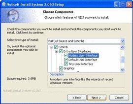 Nullsoft Scriptable Install System 2.25 screenshot