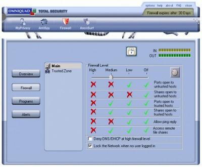 Omniquad Personal Firewall 1.4.92 screenshot