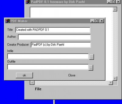 PADPDF 0.1 screenshot