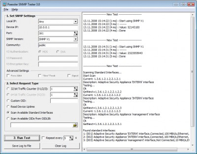 Paessler SNMP Tester 3.2 screenshot