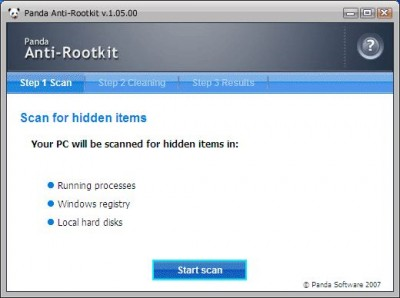 Panda Anti-Rootkit 1.05.00 screenshot
