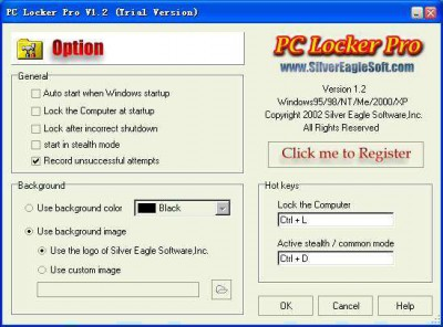 PC Locker Pro 1.3 screenshot