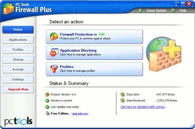 PC Tools Firewall Plus 7.0 screenshot