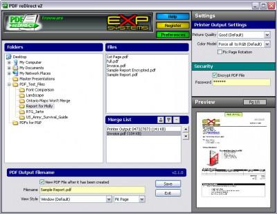 PDF reDirect 2.1 screenshot