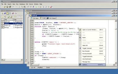 Perl-express 2.5 screenshot