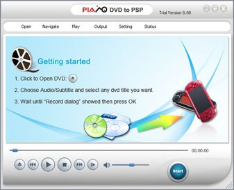 Plato DVD to PSP Converter 12.08.01 screenshot