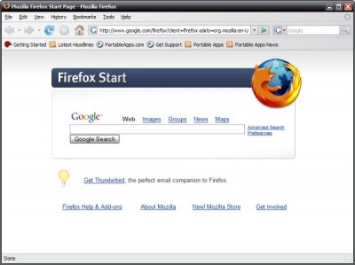 Portable Firefox 2.0.0.3 screenshot