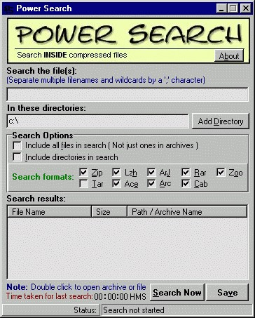 Power Search 1.0 screenshot