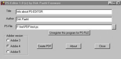 PSEDITOR 1.14 screenshot