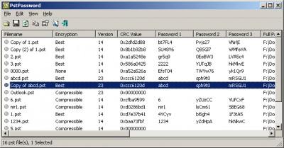 PstPassword 1.00 screenshot