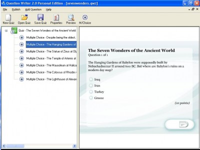 Question Writer - Personal Edition 2.0 screenshot