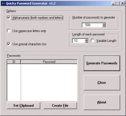Quicky Password Generator 1.2 screenshot