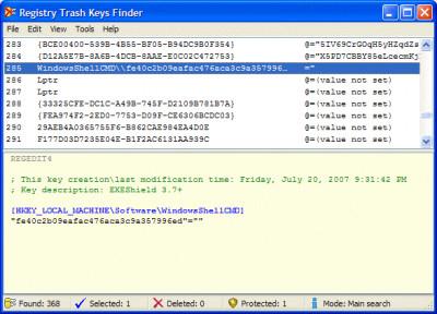 Registry Trash Keys Finder 3.9.4.0 screenshot