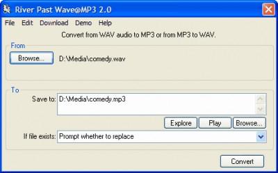 River Past Wave@MP3 3.8 screenshot