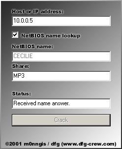 Shared Resource Password Recovery 2.3 screenshot