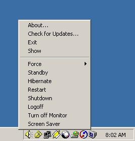 ShutdownTray 1.3.2 screenshot