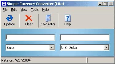 Simple Currency Converter 3.31 screenshot