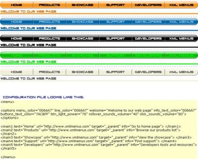 Simple Menu XML 1.0 screenshot