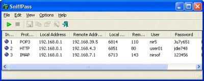 SniffPass 1.13 screenshot