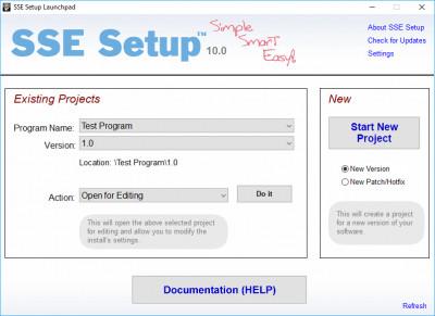 SSE Setup 8.7 screenshot