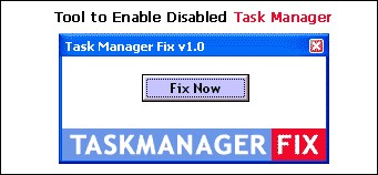 Task Manager Fix 1.0 screenshot