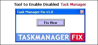 Task Manager Fix 1.0 screenshot