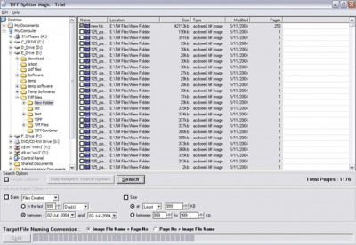 Tiff Splitter 1.0 screenshot