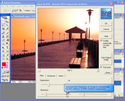 Topaz DeJPEG 1.3.1 screenshot