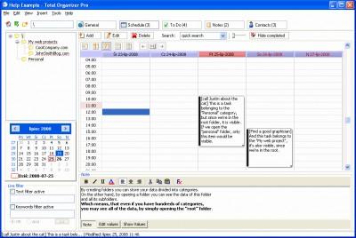 Total Organizer 2.43 screenshot