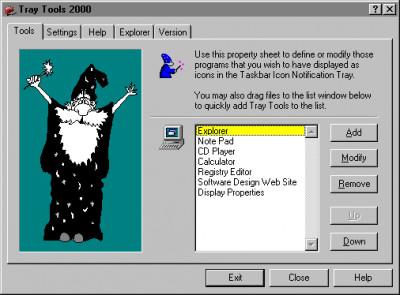 Tray Tools 2000 2.7 screenshot