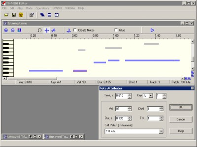 TS-MIDI Editor 1.00 screenshot
