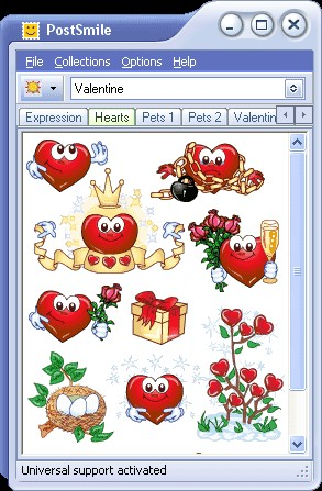 Valentine Smiley Collection for PostSmile 6.8 screenshot