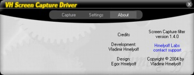 VH Screen Capture Driver 2.2.5 screenshot