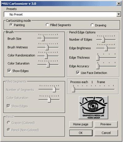 Video MSU Cartoonizer VirtualDub plugin 3.0 screenshot