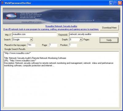 WebPlacementVerifier 1.0 screenshot