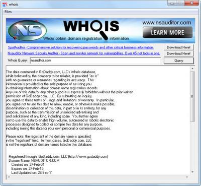 Whois 3.1.2 screenshot