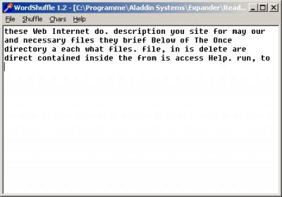 WordShuffle 1.2.1 screenshot