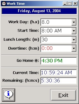 work time calculator 1 0 free download work time is a simple program that makes it easier for