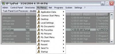 XP SysPad 7.9 screenshot