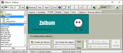 Zalbum 4.00.5 screenshot
